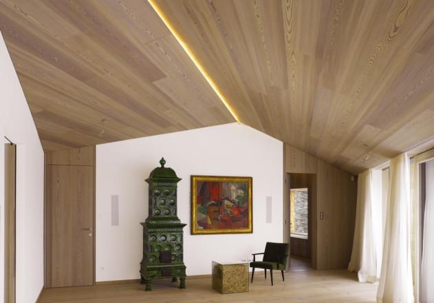 Bembé Dellinger Architekten und Stadtplaner Wohnzimmer mit Kachelofen
