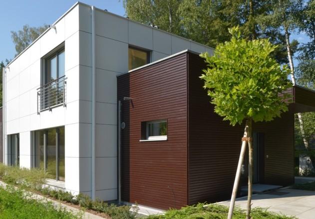 Architekturbüro Nouri-Schellinger Passivhaus Cubus Aussenansicht .