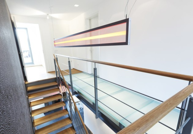 Architekturbüro Nouri-Schellinger Passivhaus Clubs Treppe Obergeschoss