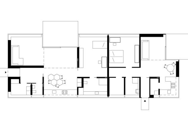Gatermann Schossig Architekten Bungalow im Gruenen Grundriss EG
