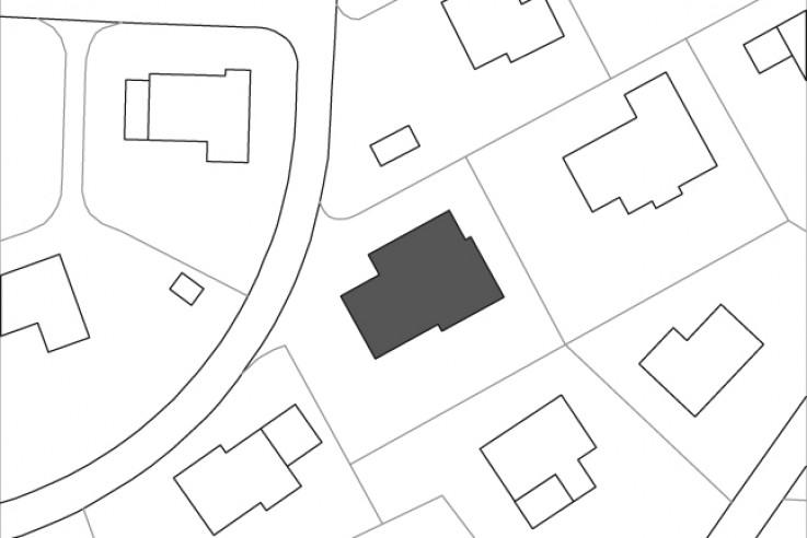 Husistein Architekten modernes Holzhaus Lageplan