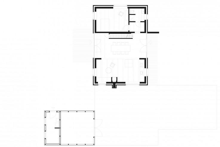 Meyer Terhorst Architekten Landhaus an der Ostsee Grundriss Erdgeschoss
