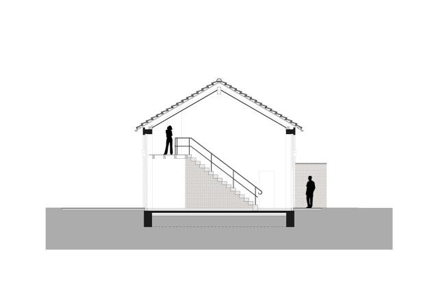 Meyer Terhorst Architekten Landhaus an der Ostsee Querschnitt