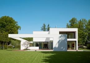 Titus Bernhard Architekten Wohnhaus Putzfassade Aussenaufnahme
