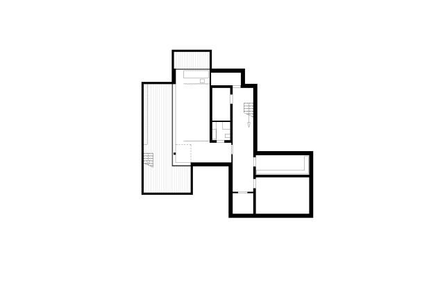 Titus Bernhard Architekten Wohnhaus am Starnberger See Grundriss Untergeschoss