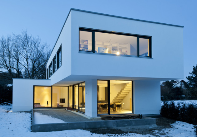 Gramming Rosenmueller Architekten Einfamilienhaus Bachern Woerthsee Aussenansicht