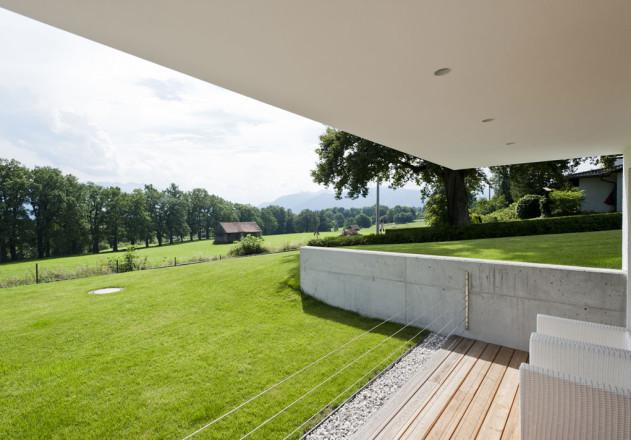 Gramming Rosenmueller Architekten Einfamilienhaus mit Einliegerwohnung Terrasse
