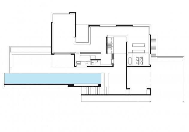 Be Zuerich Villa mit Panorama Grundriss Erdgeschoss