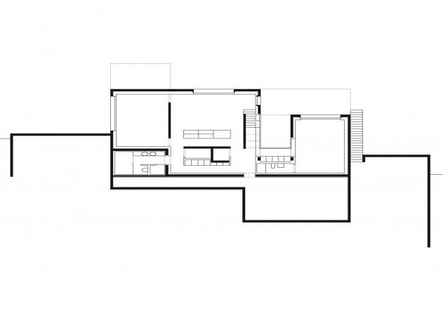 Be Zuerich Villa mit Panorama Grundriss Untergeschoss