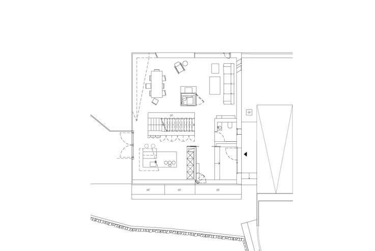 Mbas Matthias Bauer Associates nur Glas und Daemmbeton Grundriss Erdgeschoss
