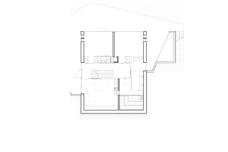 Mbas Matthias Bauer Associates nur Glas und Daemmbeton Grundriss Gartengeschoss