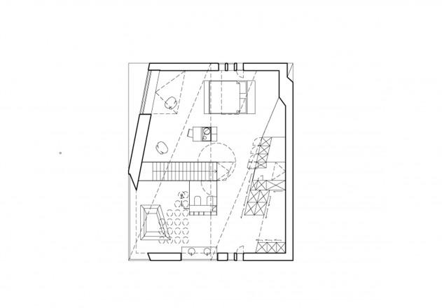 Mbas Matthias Bauer Associates nur Glas und Daemmbeton Grundriss Obergeschoss