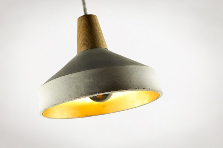 Pendelleuchte Rehform Lampenschirm Blattgold