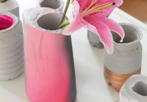 Vasen aus Beton DIY Anleitung