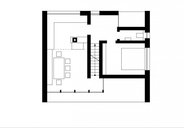 Benedikt Bosch ein Wochenendhaus Grundriss Erdgeschoss