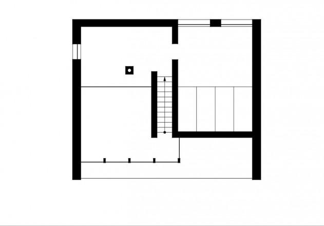 Benedikt Bosch ein Wochenendhaus Grundriss Obergeschoss
