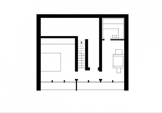 Benedikt Bosch ein Wochenendhaus Grundriss Untergeschoss