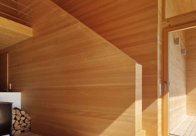Benedikt Bosch ein Wochenendhaus Ofen Holz