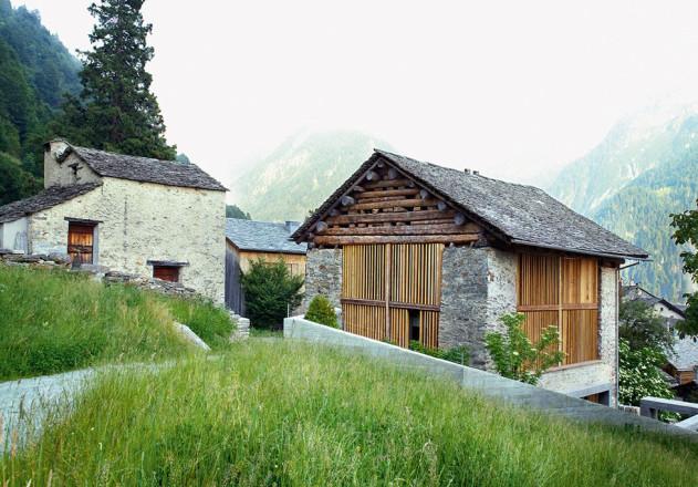 Ruinelli Associati Architetti Wohnen im Stall aussen