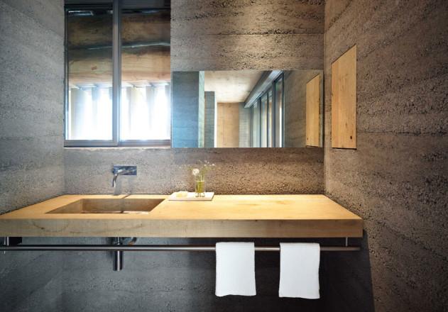 Ruinelli Associati Architetti Wohnen im Stall Badezimmer