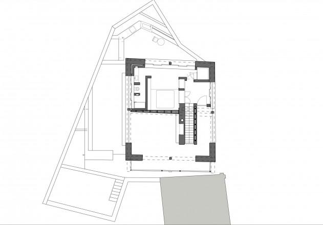 Ruinelli Associati Architetti wohnen im Stall zweites Obergeschoss