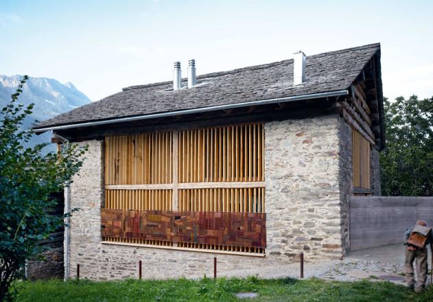 Ruinelli Associati Architetti Wohnen im Stall Massivhaus