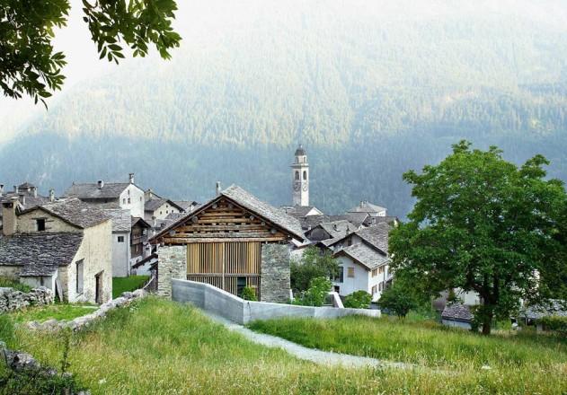 Ruinelli Associati Architetti Wohnen im Stall Tal Blick