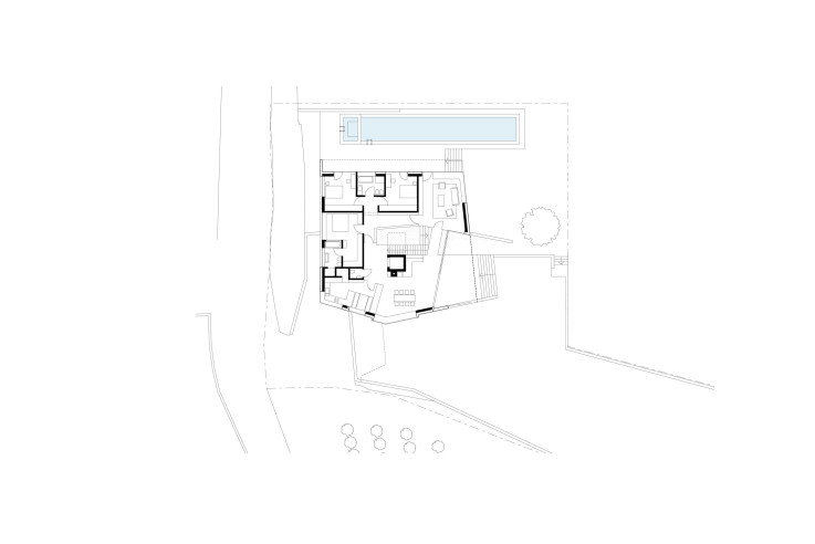Architekten Kerschbaumer Pichler Partner Klimahaus aus Beton Grundriss Erdgeschoss