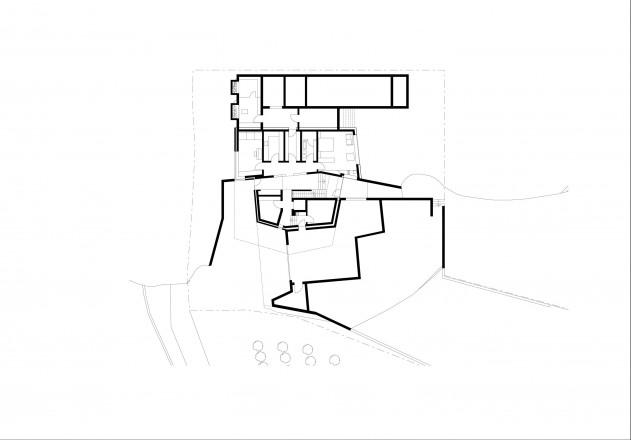 Architekten Kerschbaumer Pichler Partner Klimahaus aus Beton Grundriss Untergeschoss