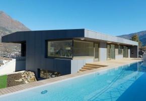 Architekten Kerschbaumer Pichler Partner Klimahaus aus Beton Swimming Pool