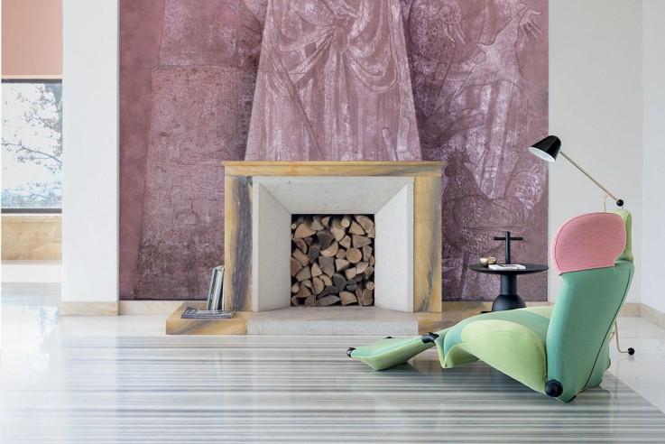 Chaiselongue Cassina gruen rosa