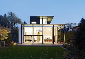 Heym Goeggel Heym Architekten puristisches Penthouse Garten