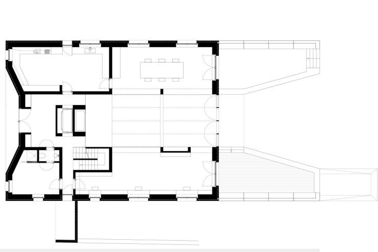 Tillmann Wagner Architekten Mehrgenerationen-Villa am See Grundriss Erdgeschoss