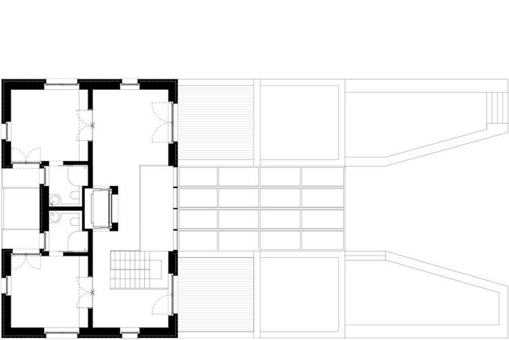 Tillmann Wagner Architekten Mehrgenerationen-Villa am See Grundriss zweites Obergeschoss