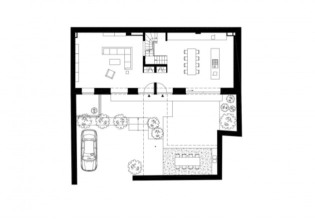Carsten Blankenhorn Umnutzung einer Werkstatt Grundriss Erdgeschoss