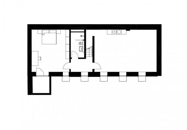 Carsten Blankenhorn Umnutzung einer Werkstatt Grundriss Untergeschoss