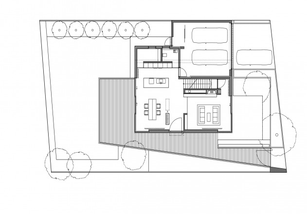 Lynx Architecture weniger ist mehr Grundriss Erdgeschoss