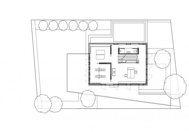 Lynx Architecture weniger ist mehr Grundriss Obergeschoss