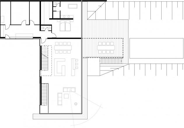 Von Bock Architekten naturverbundenes Wohnen Grundriss Eingangsgeschoss