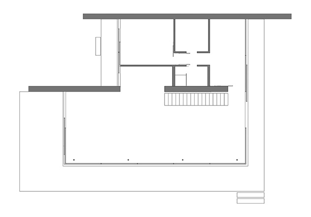 Werner Sobek recyclebares Haus Glaspavillon Grundriss EG