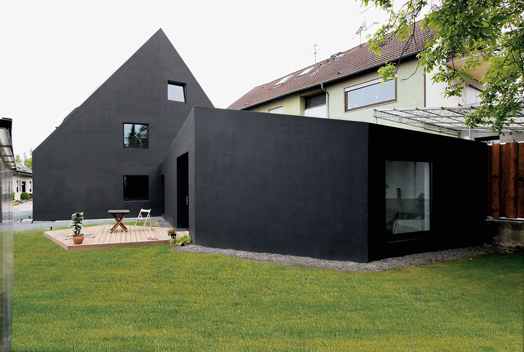Scherenschnitt haus schwarzes haus modernes for Hausformen einfamilienhaus