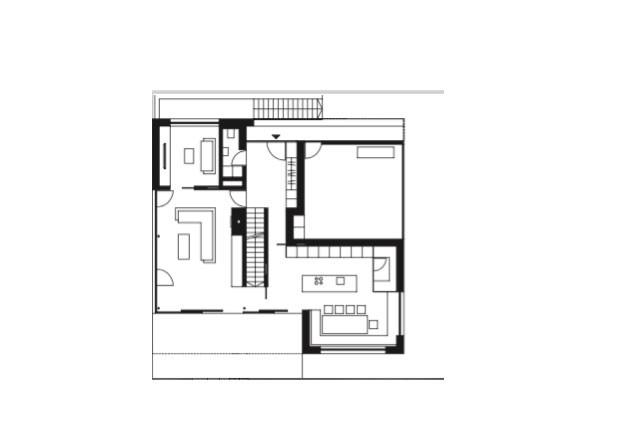 Haller und Plattner Holzriegelhaus Holzverschindelung Grundriss EG