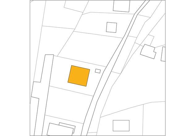 Haller und Plattner Holzriegelhaus Holzverschindelung Lageplan