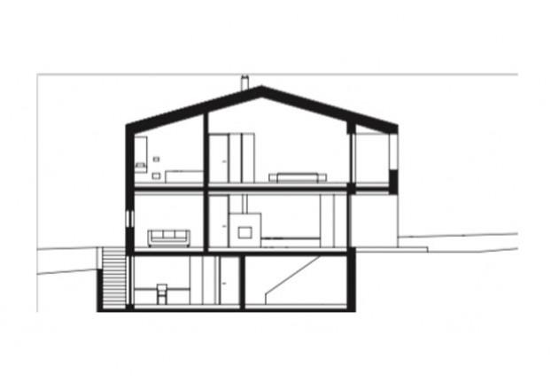 Haller und Plattner Holzriegelhaus Holzverschindelung Schnitt