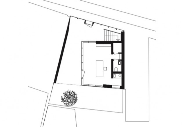 Bachmann Badie Architekten modernes Stadthaus Grundriss EG