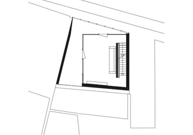 Bachmann Badie Architekten modernes Stadthaus Grundriss OG 2