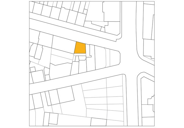 Bachmann Badie Architekten modernes Stadthaus Lageplan