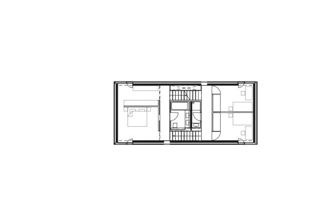 Laket Architekten Split-Level-Haus Grundriss OG