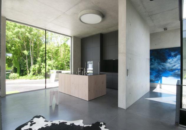 Architekturbüro di Simone Architektin Einfamilienhaus Starnbergersee  offene Küche