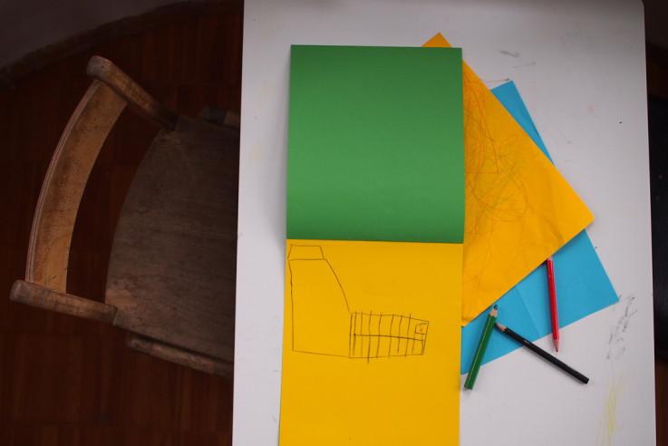 Bautagebuch Planabgabe Eigenheim selbst bauen Kinderzeichnung